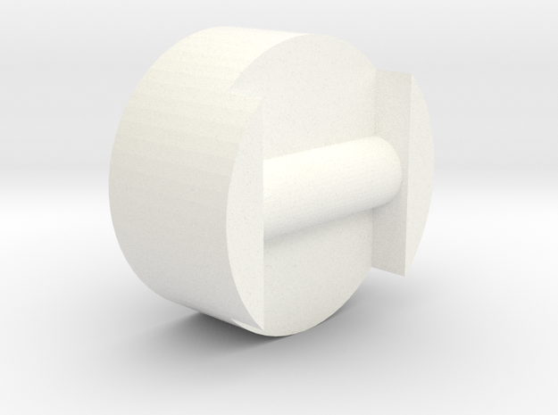 CMS knob V1 in White Processed Versatile Plastic
