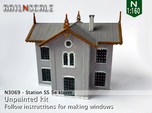 Station SS 5e Klasse (N 1:160) in White Strong & Flexible