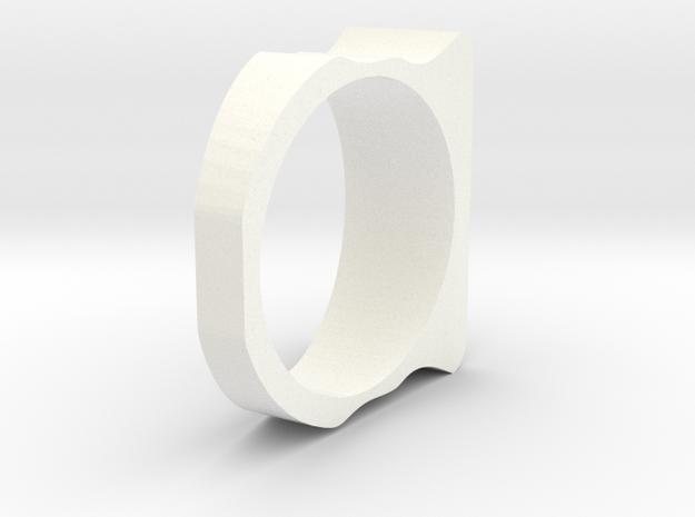 Ring Simples 18.5mm in White Processed Versatile Plastic