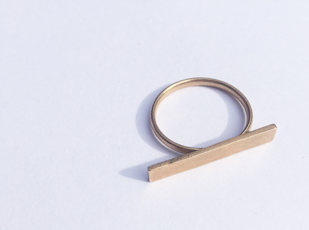 Space Ring (Size Medium) in Natural Bronze