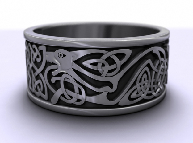 BJR celtic hound ring 22.5mmx10mmx1.45mm 3d printed 3D render