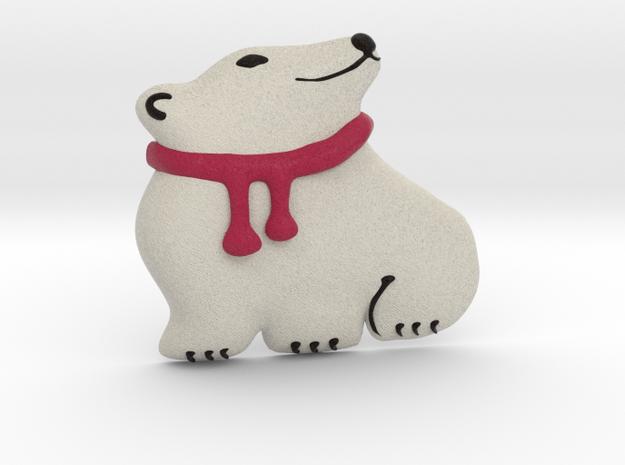 Polar Bear in Full Color Sandstone