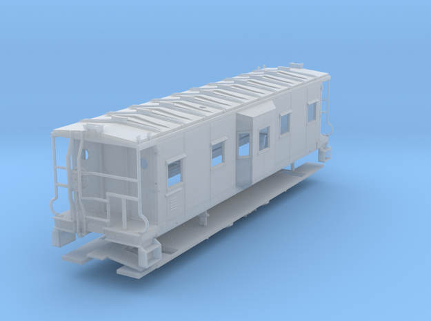 Sou Ry. bay window caboose - Hayne Shop - S scale in Smooth Fine Detail Plastic