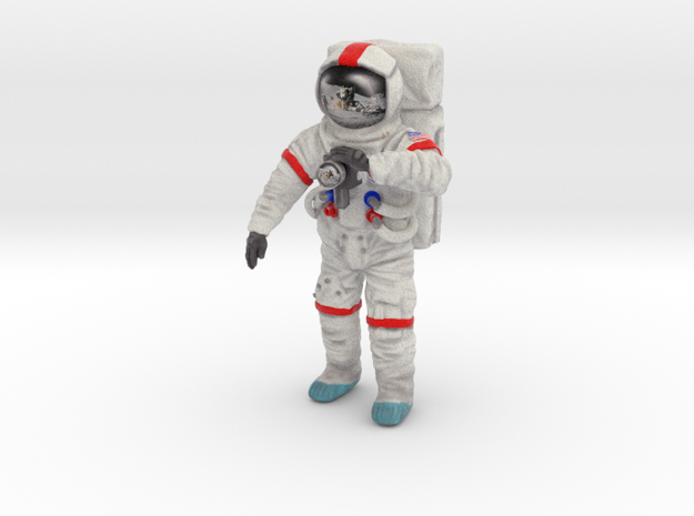 Astronaut--moonwalker-51mm-color---20141024--003d in Full Color Sandstone