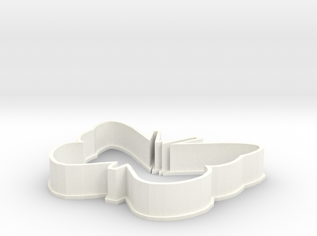 Butterfly cookie cutter in White Processed Versatile Plastic