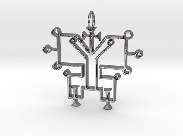 Sigil of Osiris in Polished Silver