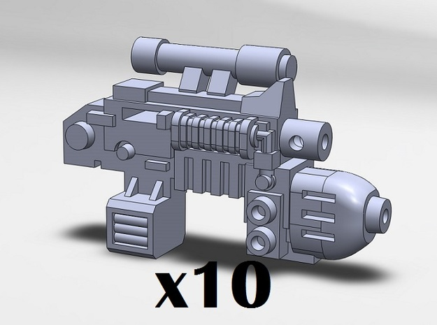 10x Plasma Combination Weapons 3d printed Combination Plasma Gun