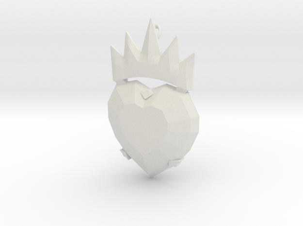 Disney Descendants Evie heart shaped pendant in White Natural Versatile Plastic