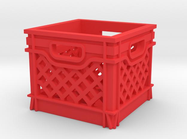 1/10 SCALE MILK CRATE in Red Processed Versatile Plastic