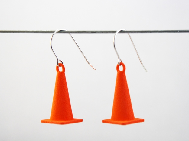 Cone Earrings in Orange Strong & Flexible Polished