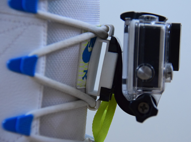 GoPro shoe mount in White Strong & Flexible Polished