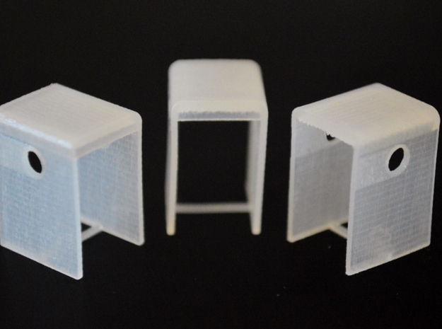 N-Scale SD24B Cab Replacement (3-Pack) in Smooth Fine Detail Plastic