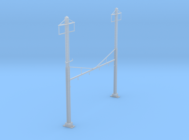 CATENARY PRR 4 TRACK 2PHASE N SCALE  in Frosted Ultra Detail