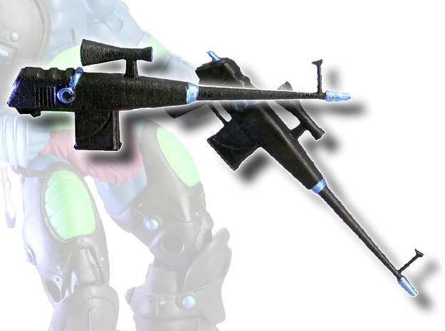 X-Man Assault Rifle (Kronis version) in White Processed Versatile Plastic