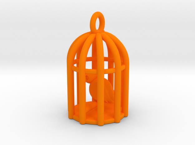 Birdcage Earrings in Orange Strong & Flexible Polished