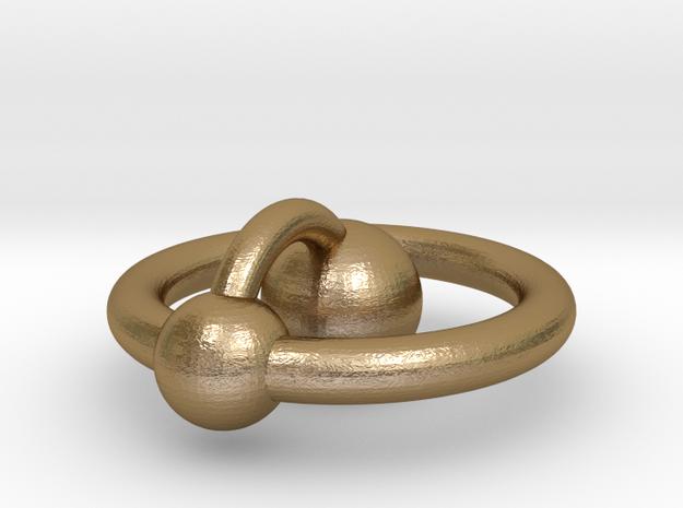 Mini Hydrogen Atom Pendant in Polished Gold Steel