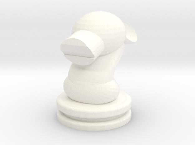 Werewolf  Chess Knight in White Processed Versatile Plastic