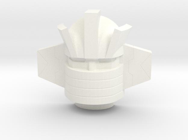 Wheeljack Headmasterhoofd 22mm in White Processed Versatile Plastic