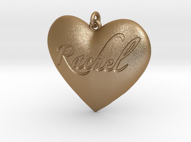 Rachel in Matte Gold Steel: Small
