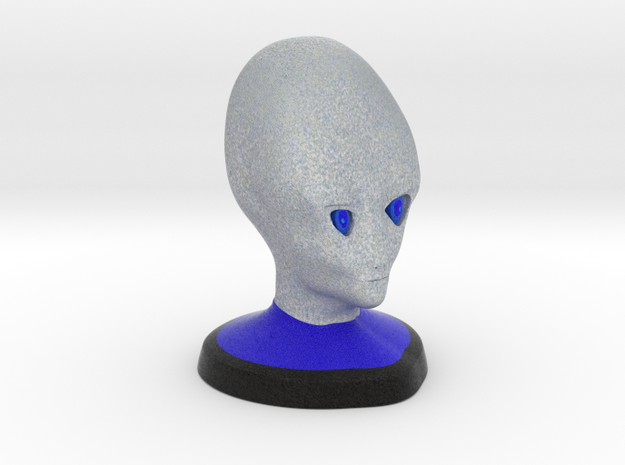 Alien Bust in Full Color Sandstone