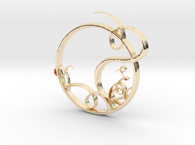 Swirling Circle in 14K Gold