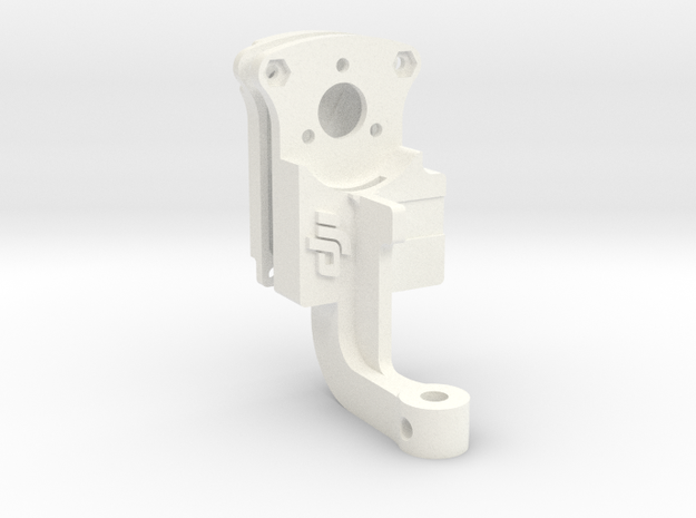Upgraded Phantom 3 Gimbal YAW Arm - TD Edition in White Processed Versatile Plastic