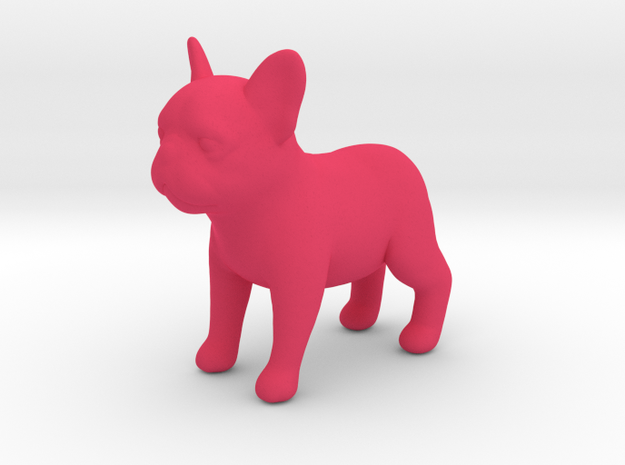 French Bulldog :D in Pink Processed Versatile Plastic