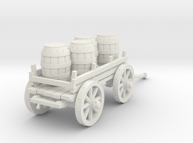 4-wheeled cart with barrrels