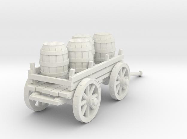 4-wheeled cart with barrrels