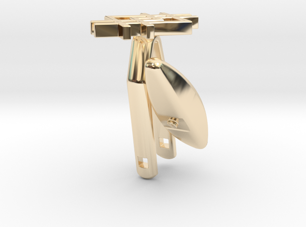 Cufflink - Squarestyle 3d printed