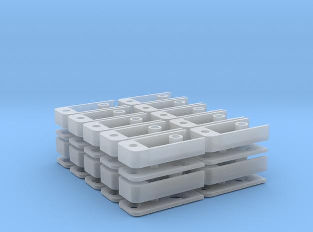 Medium Draft Coupler Box (N -1:160) 20X in Smooth Fine Detail Plastic