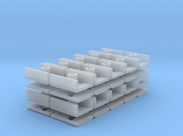 Short Coupler Box (N -1:160) 20X in Smooth Fine Detail Plastic