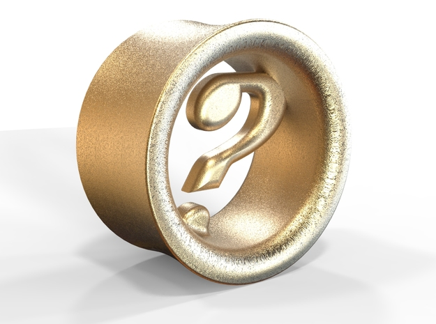 Mysterion (diam 10mm) in Polished Gold Steel