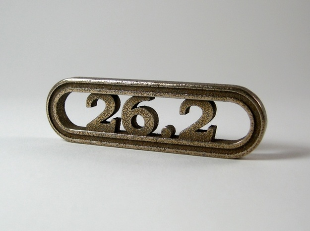 26.2 Marathon Keychain - Better than a car decal! 3d printed