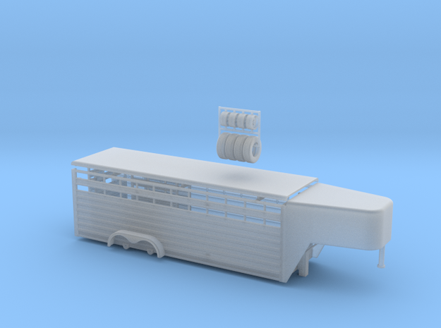 1/64 24' Cattle Trailer Slat Style (door on left s
