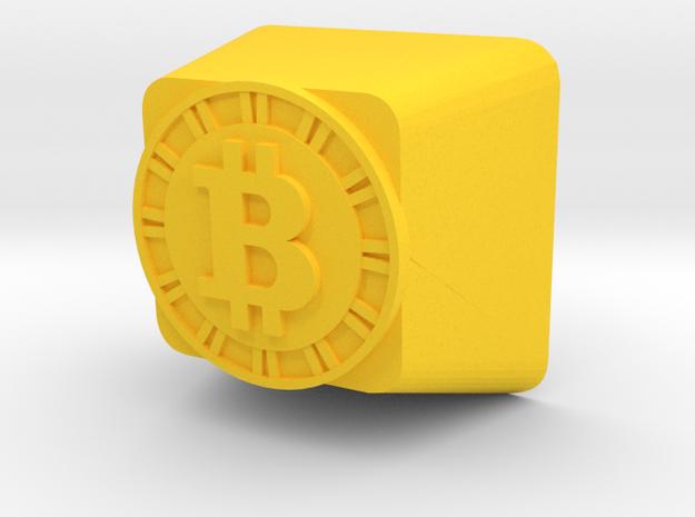 Bitcoin Cherry MX Keycap in Yellow Processed Versatile Plastic