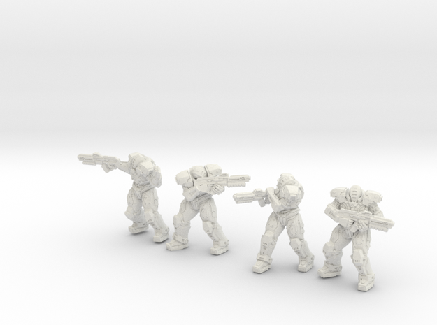 Abandoned Frontier SCR troopers in White Natural Versatile Plastic