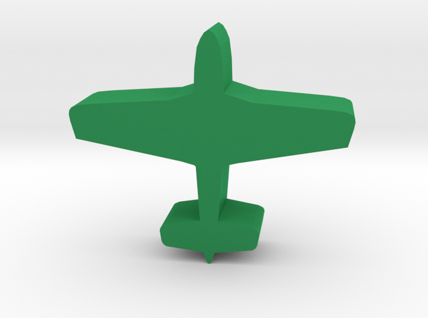 Game Piece, WW2 Mustang Fighter in Green Processed Versatile Plastic