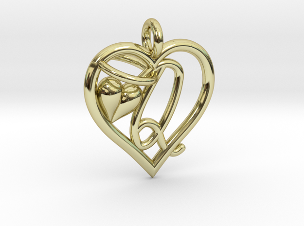 HEART Q in 18k Gold Plated Brass