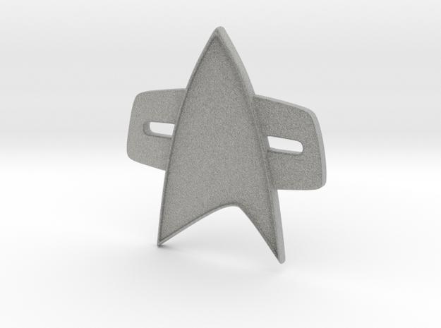 Star Trek Voyager/Deep Space Nine Combadge in Metallic Plastic