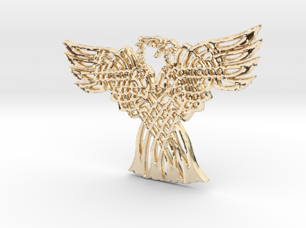 Eagle Pendant in 14K Yellow Gold