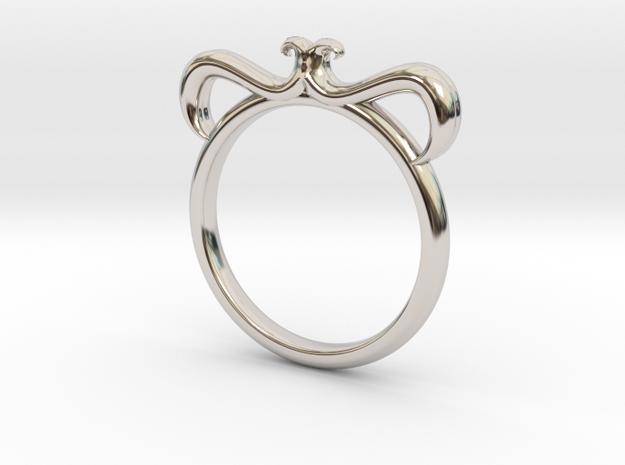 Petal Ring Size 10 in Platinum