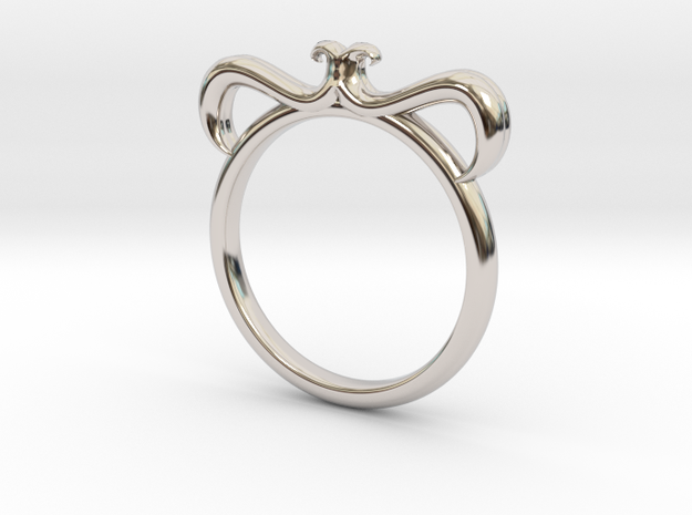 Petal Ring Size 8.5 in Platinum