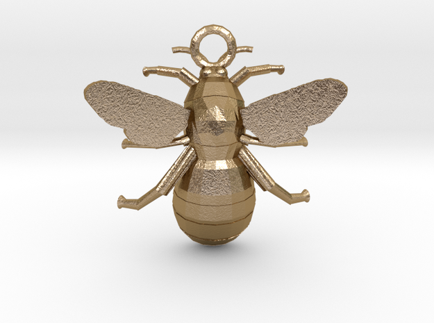 Bumblebee Pendant in Polished Gold Steel