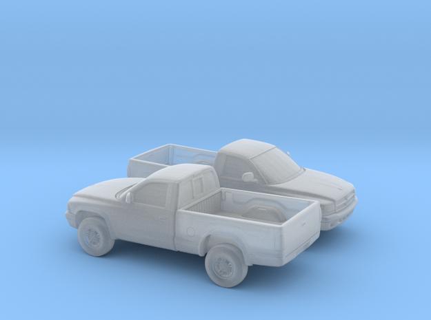 1/160 2X 1997-04 Dodge Dakota Regular Cab in Smooth Fine Detail Plastic
