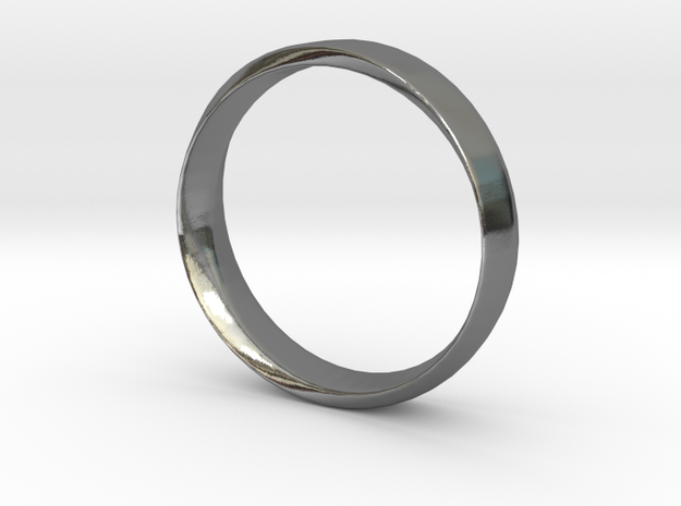 Mobius Ring Plain Size US 9.75 in Polished Silver