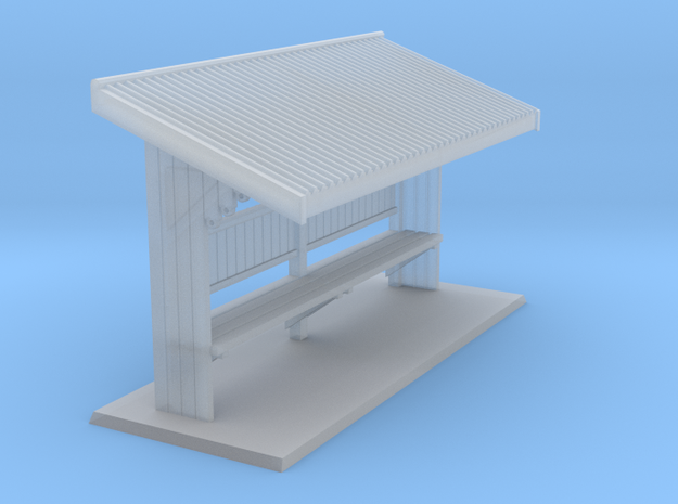 Brisbane Tram Shelter HO scale 1:87 in Smooth Fine Detail Plastic