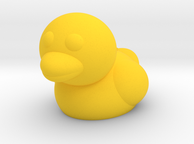 Duck (Nikoss'Animals) in Yellow Strong & Flexible Polished