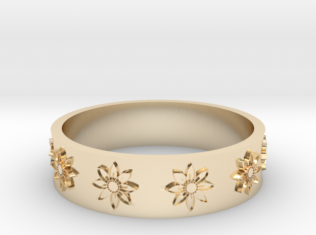 flower ring in 14k Gold Plated