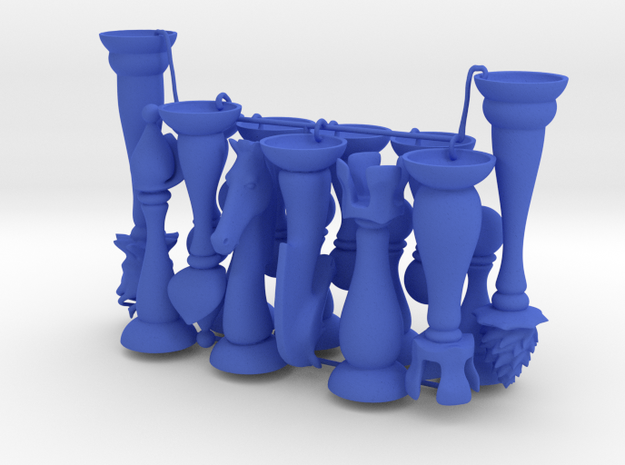 Slender Chess Pieces, 1/2 set